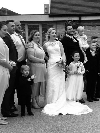 Wedding Boys Childhood Well-dressed Medium Group Of People Child Bridegroom Bride Men Girls Life Events Full Suit Love Wedding Dress Tradition Son Women Standing Dedication Neice Family❤ Family Time Black And White Monochrome Blackandwhite