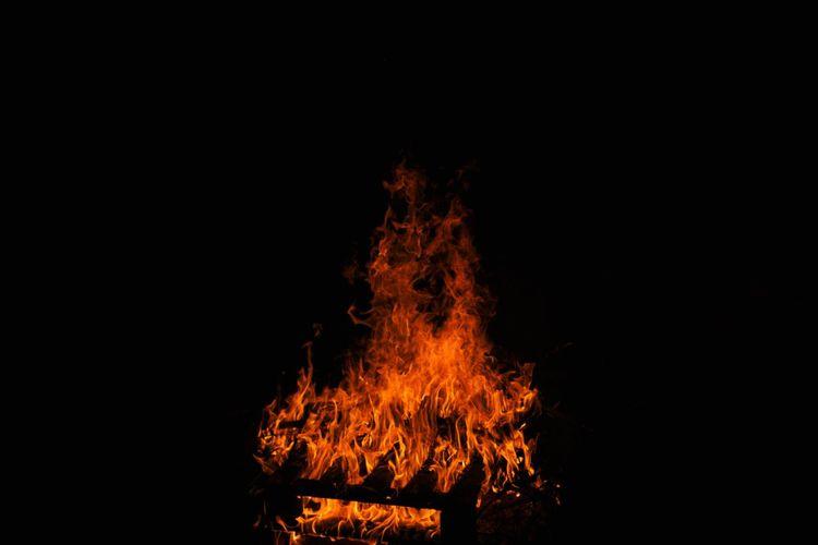 after fire burn