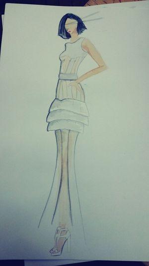 Mon dessin pour la robe mariée Jeanpaulgaultier Project Styliste Fashion Esmod