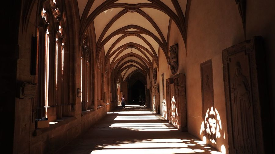 Shadows in the Cloisters of Mainz Cathedral UNESCO World Heritage Site Shadows And Lights Shadows Architecture The Way Forward Direction Built Structure Arch Building Arcade Corridor Diminishing Perspective Place Of Worship No People Religion The Past Spirituality History Architectural Column Sunlight