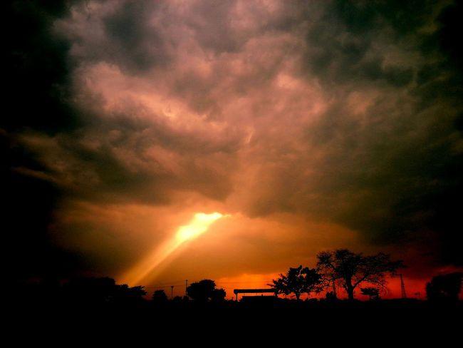 EyeEm Nature Lover Red Sky Fire In The Sky Cloudy Skies Looks Like Hell Taste Like Heaven..lol West Bengal Murshidabad