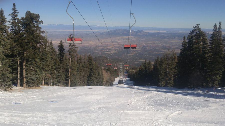 Scenic view of ski lift