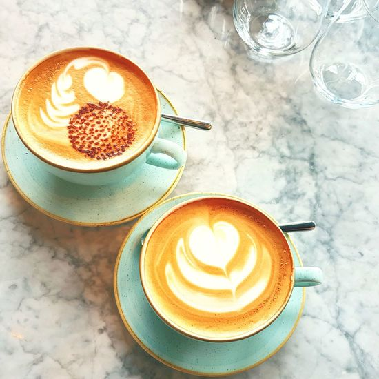 Coffee.. And the day is better.. ☕ The best thing to douse the sunrise with.☀️💛 EyeEm Selects #photography #EyeEmNewHere #restaurant #friends #beautiful #Husband And Wife ❤️ #love #Happiness #followme #newtothis Cappuccino Latte Coffee - Drink High Angle View