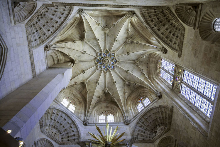 Arch Architectural Column Architectural Feature Architecture Built Structure Burgos Cathedral Cathedral Ceiling Church Day Design Directly Below Gothic Interior Low Angle View No People Ornate Place Of Worship Religion SPAIN Spirituality Tourism Travel Destinations