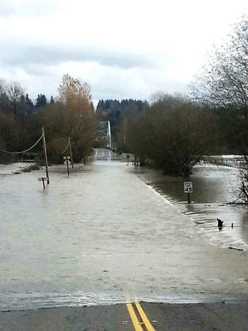Flooding Flooded Road road closed due to river overflowing ...too much rain Road Closed Snohomish Valley