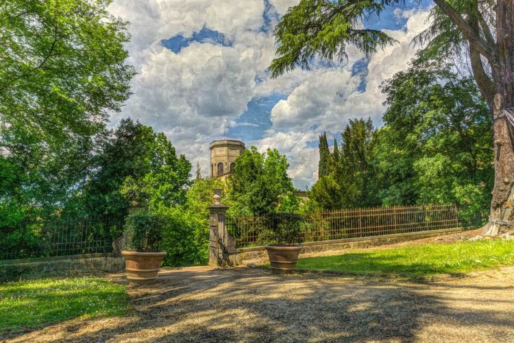 Tree Religion No People Outdoors Spirituality Cloud - Sky Nature Mountain Beauty In Nature Sky Day Souvenir Florence Tourism Tuscany Landscape Italy Tower Boboli Garden