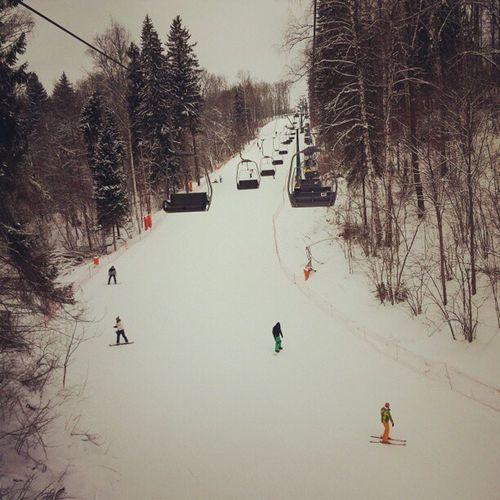 Степаново склон гора спуск лыжи