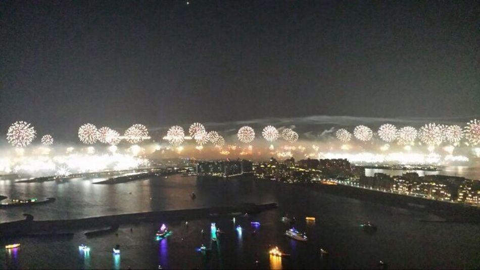 Happy new year from Dubai Fireworks