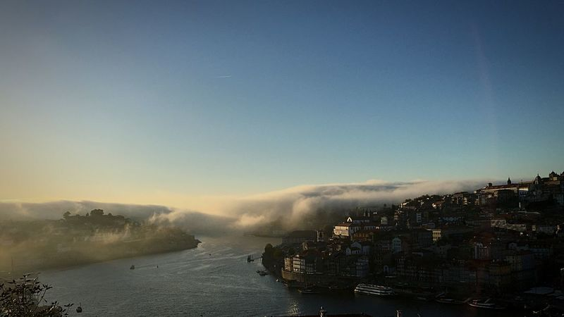 Sea mist in Porto Sky Architecture Sea No People Building Exterior Outdoors Built Structure Water Clear Sky Nature Day Cityscape City Beauty In Nature Nautical Vessel Porto