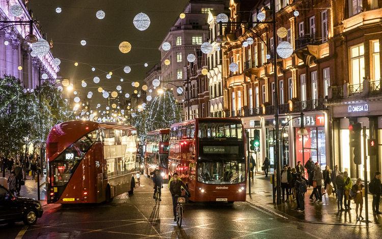 The City Light Street Photography Photourist Night City Christmas Decoration London Londonstreet