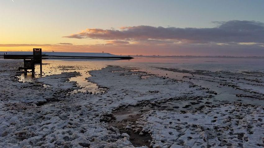 Beach Beauty In Nature Dangast Landscape Sea Sunset Water Winter