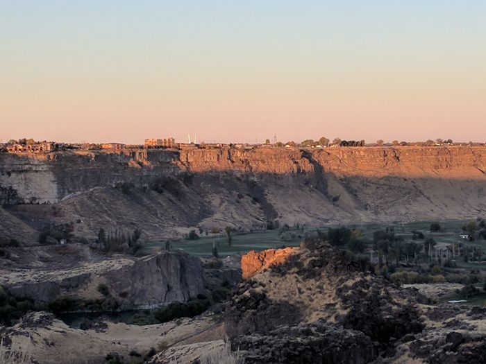 Fall Beauty Fall Colors Craters And Rock Monuments Breathtaking Sunrise Serene