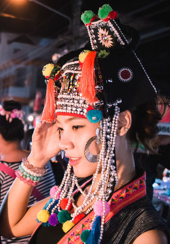 Young woman wearing traditional clothing