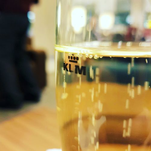 Indoors  Close-up No People Day Champagne Glass Amsterdam Airport Business Lounge KLM Drink Travel Airport Lounge