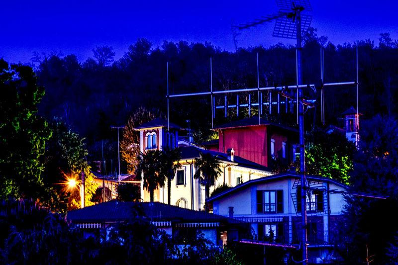 Aerial Long Exposure Shot Night-time Lighting Nightphotography Old Buildings Turret