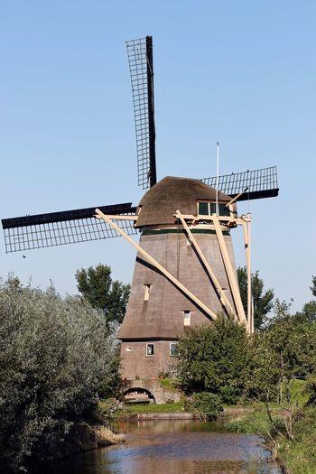 Windmill Sunny Day Dutch Landscape Dutch Countyside