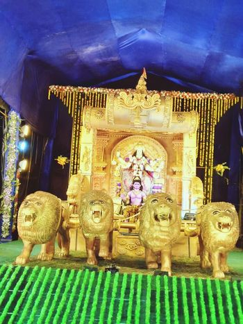 Statue Sculpture Ornate Religion No People Indoors  King - Royal Person Day Durga Durga Puja 2016 Durgapujo Durga Pujo Durga Puja 2017 Festive Mood Statue Navratri Architecture Royal Person
