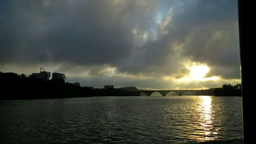 Sunset at DC💗 Mobilephotography Nexus6photography USAtrip Nexus6P Holidays Sunest Bridge Sunsets Water Reflections Nexus6pcamera The Great Outdoors - 2017 EyeEm Awards