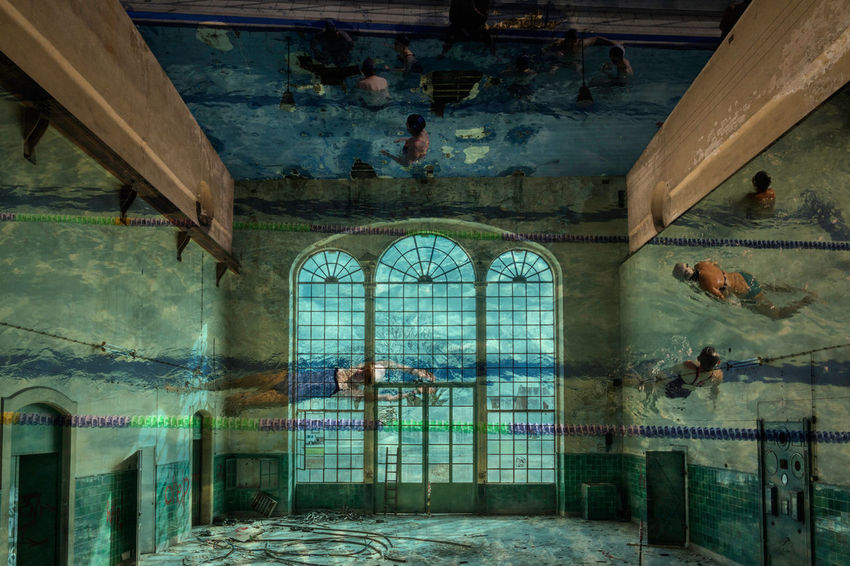 Abandoned Abandonned Building Architecture BYOPaper! Montage Swimming Pool Mix Yourself A Good Time