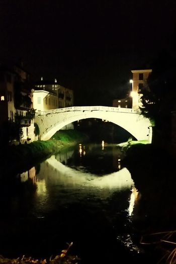 Reflection City Architecture Building Exterior Water No People Outdoors Sky Day Vicenza Italy Bridge Night First Eyeem Photo