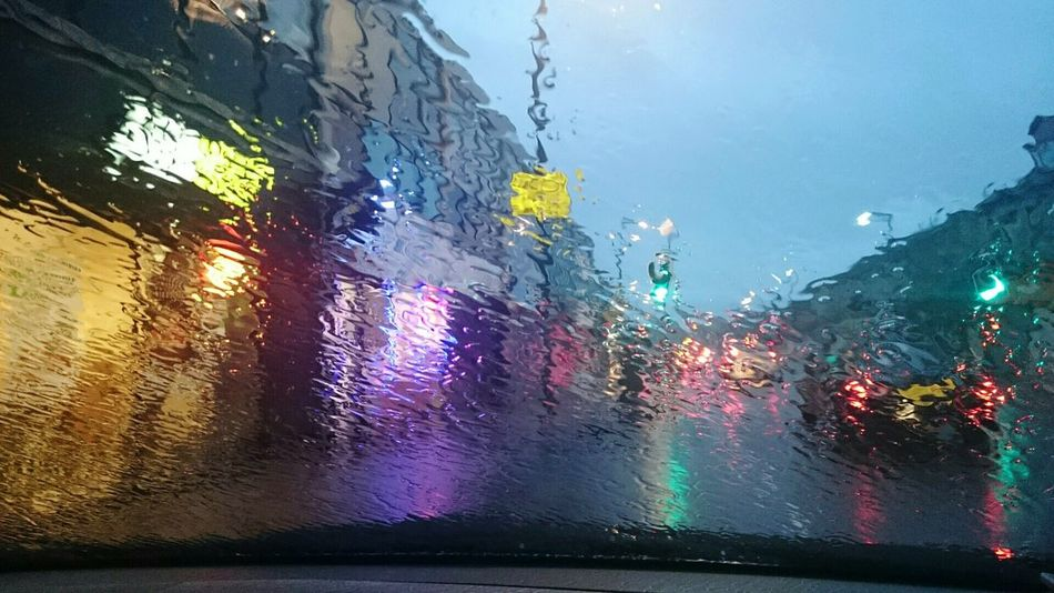 Impressionism Rain Rain Drops RainyDay Raining Night Street Street Lights
