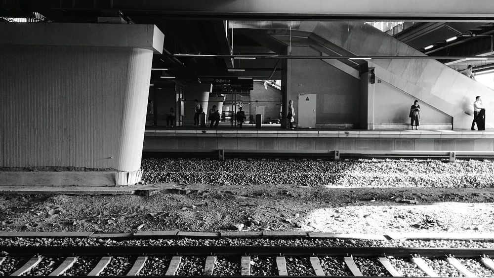 Day 334 - At the station Berlin Blackandwhite Streetphotography Streetphoto_bw Public Transportation Sbahn Shadow Light 365project 365florianmski Day334