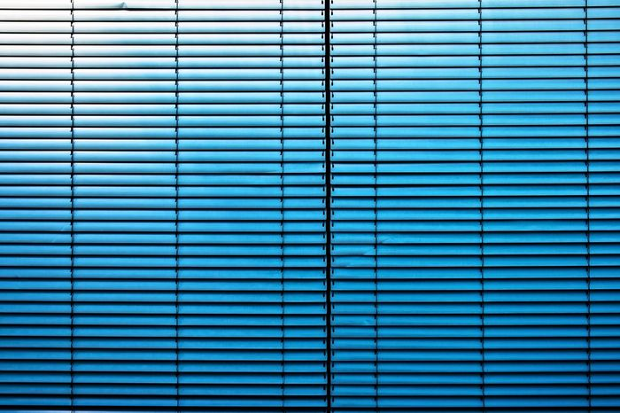 Feierabend ... Urban Perspectives The Devil's In The Detail Summer In The City Backgrounds Full Frame Corrugated Iron Pattern Blue Blinds Close-up Architectural Detail Closed Architectural Design Architectural Feature Locked Parallel Repetition