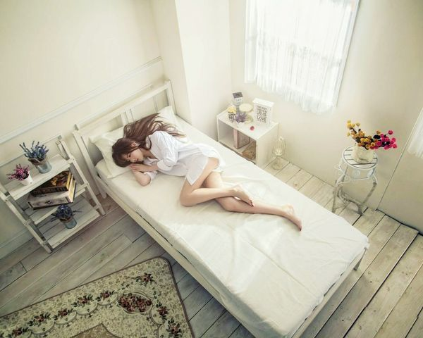 Full Length Indoors  Relaxation One Person Lying Down One Woman Only Beauty Sleeping Adults Only One Young Woman Only Only Women Young Adult People Surreal Women Adult Young Women Bedroom Domestic Room Domestic Life