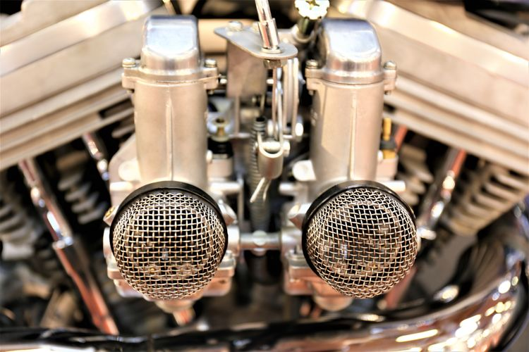 Close-up of microphones