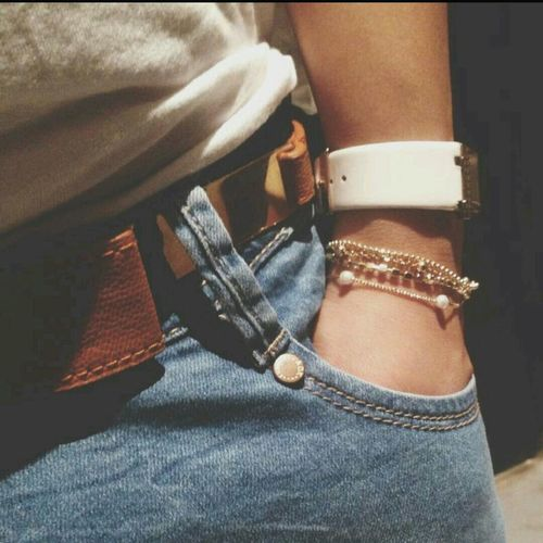 Jeans Leather Belt Clock That's Me ?