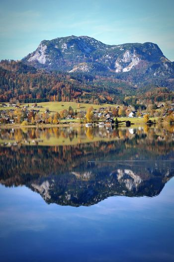 Autumn Altaussee Austria Mountain Beauty In Nature Mountain Range Nature Tranquil Scene Sky Scenics Reflection Water Lake Tranquility Day No People Outdoors Landscape