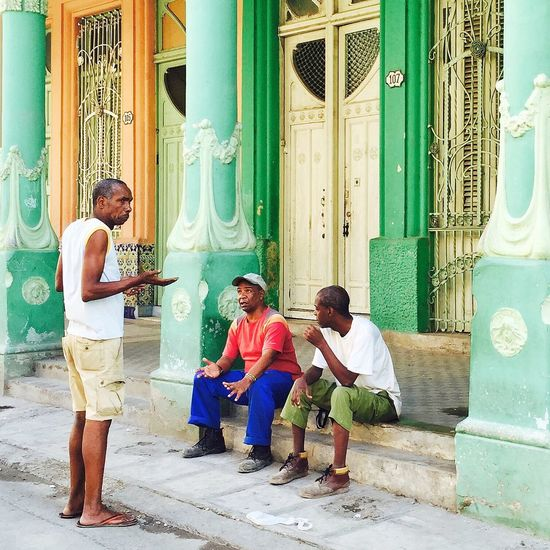 """We don't know"" Cuba Habana Streetphotography EyeEm Best Shots Havana Colonial Architecture RePicture Travel Snapshots Of Life The Street Photographer - 2015 EyeEm Awards IPS2015Story IPS2016Street IPS2016People"