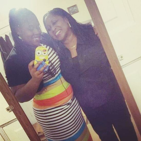 me and my beautiful mother today Today We Cute I Love My Mom