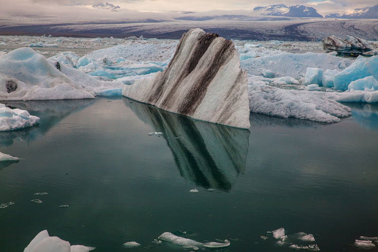 Scenic View Of Glacier Lagoon