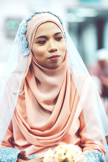 the beginning of the new step #wedding #photography #prewedding #malaywedding #happyending #bride EyeEm Selects Traditional Clothing Portrait Young Adult Cultures People Young Women Wrapped Beautiful People