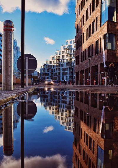 Enter the upside down, Aarhus, Denmark Reflection Architecture Building Exterior Built Structure City Water Sky Outdoors Denmark Aarhus, Denmark