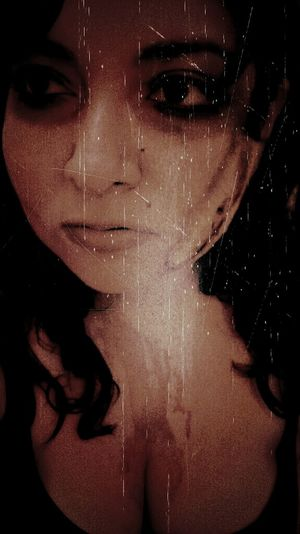 """Who needs blood coursing thru vein... This is the stain of my father's shame"" Selfie Just Me Darkart BloodLust"