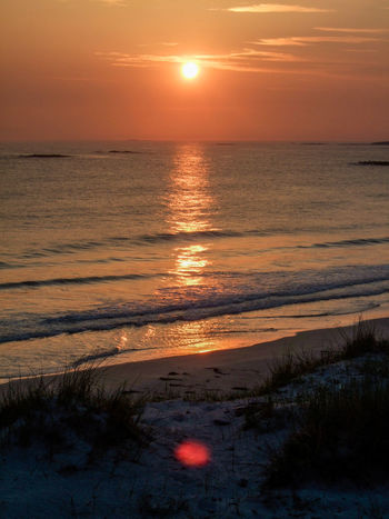 Beach Beauty In Nature Horizon Over Water Idyllic Majestic Orange Color Orange Sky Outdoors Outer Hebrides Reflection Scenics Scotland Sea Seascape Shore Sun Sunset Sunset Reflection Sunset Reflection On Water Tourism Tranquil Scene Tranquility Travel Destinations Frosty Water