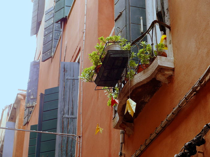 #Venice #italy Architecture Balcony Building Exterior Built Structure Day Low Angle View No People Outdoors Window Window Box