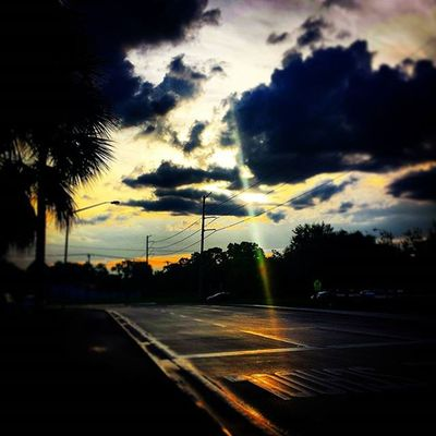 🌇 Evenings like these are kind to me... 🌇 Itsabeautifulevening AfterShower Streets Powerlines Clouds