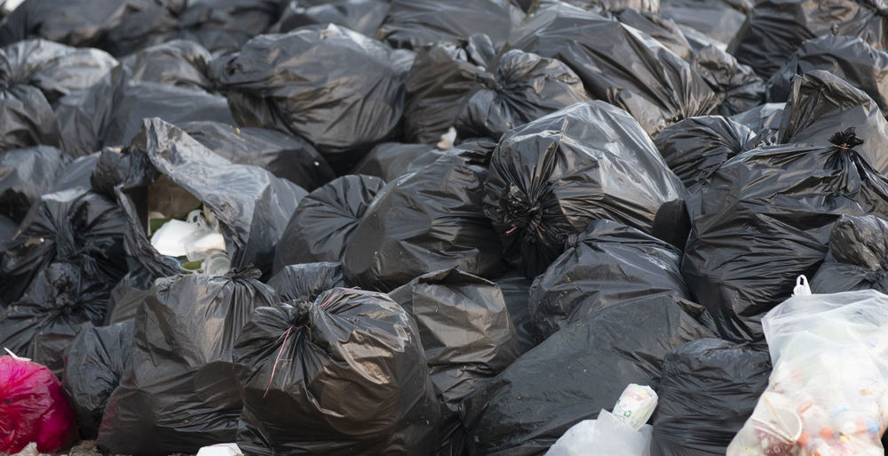 pile of black garbage bags Garbage Bag Recycle Waste Dump Black
