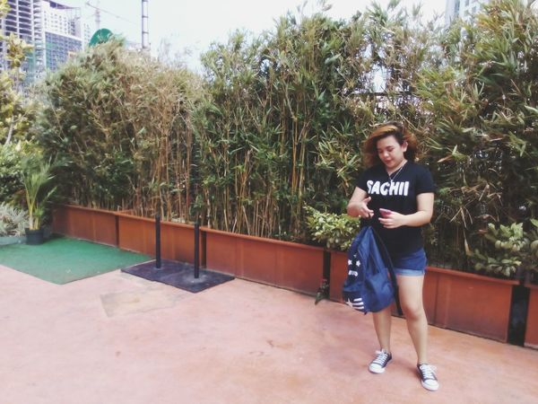 Windy afternoon at Topiarygarden Gatewaymall Metromanila Philippines QuezonCityPhilippines