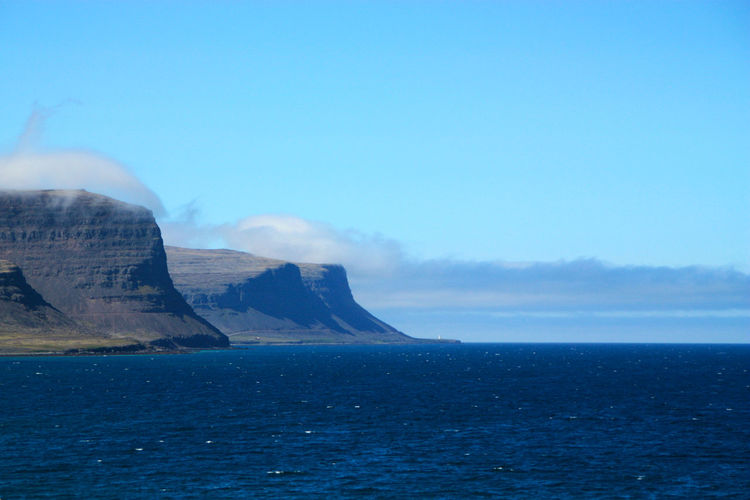 Latrabjarg, huge cliffs on Iceland westernmost point Atlantic Cliffs Iceland Beauty In Nature Blue Clear Sky Clouds And Sky Day Horizon Over Water Idyllic Latrabjarg Nature No People Outdoors Rough Coast Scenics Sea Sky Tranquil Scene Tranquility Water Waterfront Westernmost