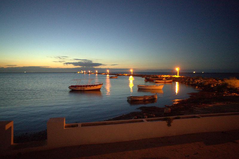 iile kerkhenna Water Nautical Vessel Sea Sunset Beach Illuminated Sky Horizon Over Water