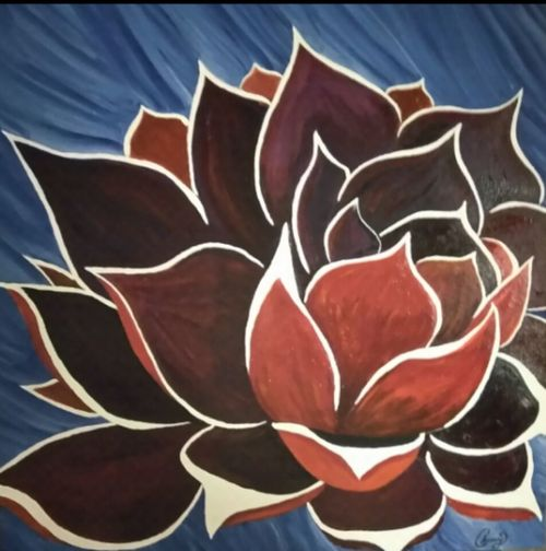 Red Full Frame No People Close-up Art Therapy Life Is Art Art Is Life Create Art Creativity Blue Lotus Lotus Flower My Art, My Soul... Painting ArtWork Original Art Original Artwork Art Art Space Finished Finished Work Art For Sale Backgrounds The Art Life
