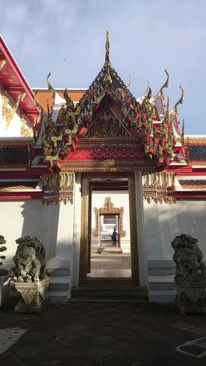 Architecture No People Outdoors Day Sky Door Doors Doorway Doorways Doorways Inside Doorways Tourism Ornate Traveling Bangkok Thailand Ancient Tradition Buddhism Spirituality Thailand Travel Architecture History Travel Arts Culture And Entertainment Travel Destinations