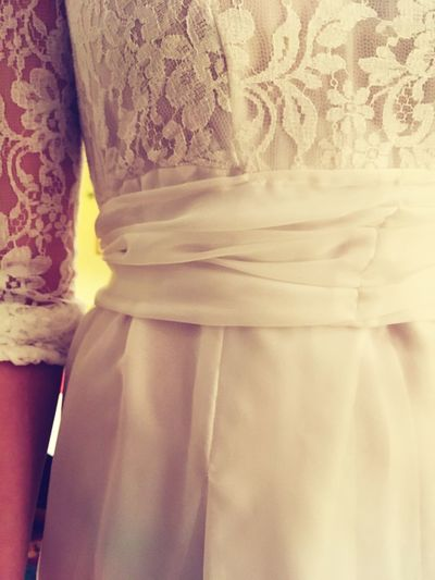 Wedding Day Proposal Decision Togetherness Love Expectation Married Dressing Up Bridal Diy Wedding DIY Dress White Lace Lace - Textile Lace Celebration Ceremony Wedding Dress Wedding Gown Wedding Bride EyeEm Selects Wedding Dress Wedding Bride Lingerie Close-up Women Real People Indoors