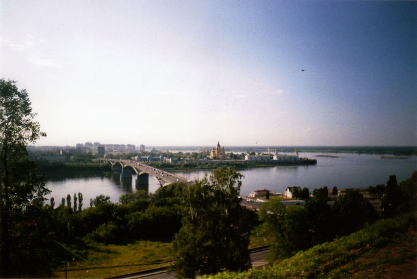 35mm Beauty In Nature Blue City Cityscape Day Elevated View Growth Horizon Over Land Landscape Nature No People Outdoors Plant River Scenics Sky Tranquil Scene Tranquility Tree Water