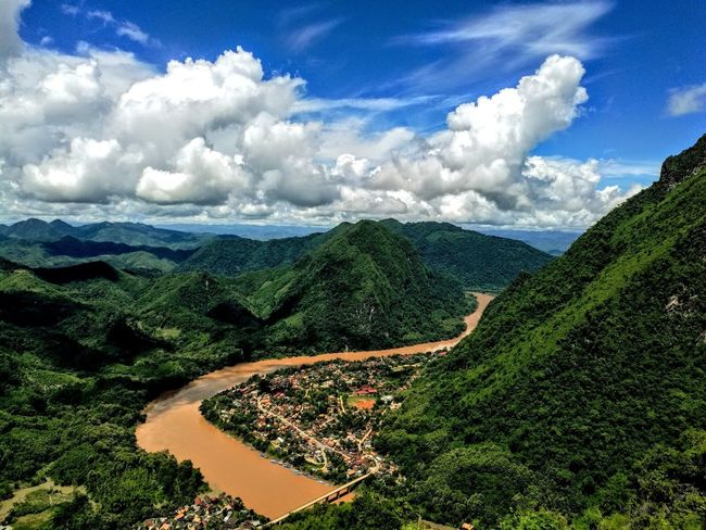 LAO Laos Montagne Mountain Mekong River Southeastasia Backpack Backpacking Travel Travel Photography Voyage Cloud - Sky Agriculture Sky Scenics Beauty In Nature Landscape Nature Tree Crop  Rural Scene Field Tea Crop Growth Day