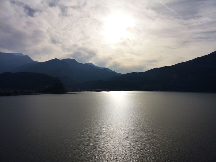 Water Mountain Lake Reflection Rippled Sky Landscape Mountain Range